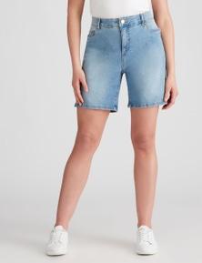 Rockmans Mid Thigh Comfort Waist Denim Short