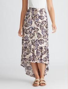 Rockmans Palm Print Maxi Skirt
