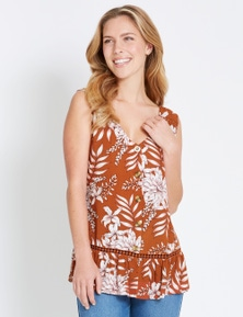 Rockmans Sleeveless Floral Top