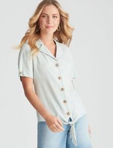 Rockmans Short Sleeve Collard Shirt