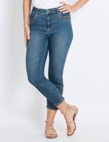 Rockmans 7/8 Pocket Detail Comfort Waist Jean