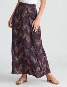 Rockmans Maxi Wrap Buckle Detail Skirt