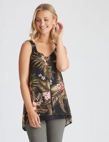 Rockmans Sleeveless Smart Woven Layer Top