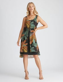 Rockmans Woven Layer Dress