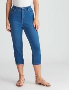 Rockmans Crop Comfort Waist Denim Jean