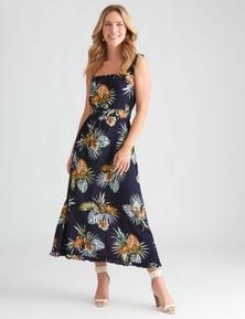 Rockmans Sleeveless Ditsy Print Maxi Dress