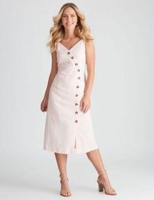 Rockmans Sleeveless Linen Midi Dress