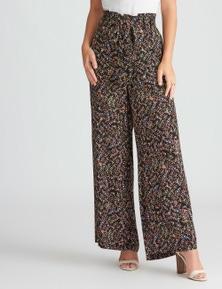 Rockmans Full Length  Wide Leg Floral Print Pant