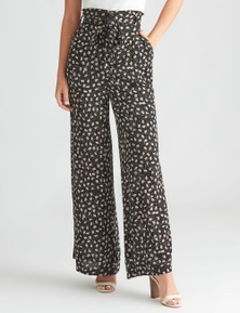 Rockmans Full Length Tie Front Printed Pant