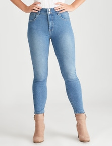 Rockmans 7/8 Double Button Tuscany Jean