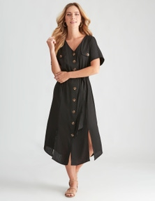 Rockmans Extended Sleeve Midi Dress