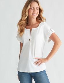 Rockmans Short Sleeve Shirt Style Top