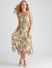 Table Eight Sleeveless Pleated Dress
