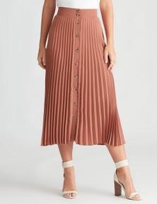 Table Eight Midi Length Pleat Skirt