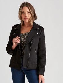 Rockmans Long Sleeve Suedette Jacket
