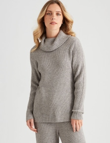 Rockmans Long Sleeve Relaxed Rib Knit