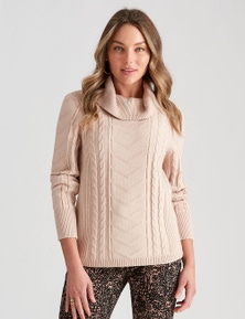 COWL CABLE KNIT