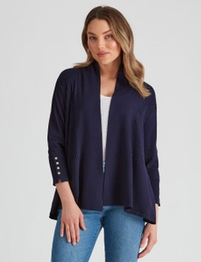 Rockmans 3/4 Sleeve Fit and Flare Cardigan