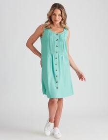 Rockmans Linen Button Through Dress