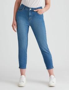 Rockmans 7/8 Length Mid Wash Jean