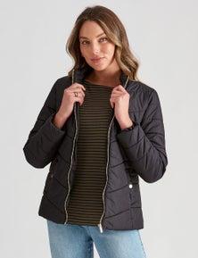 Rockmans Long Sleeve Puffer Jacket