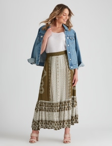 Rockmans Button Through Maxi Skirt