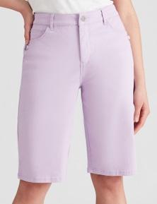Rockmans Knee Length Ring Detail Shorts