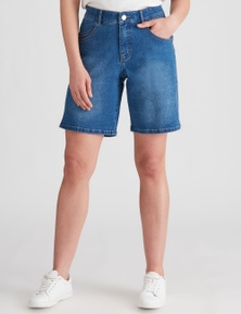 Rockmans Mid Thigh Double Pocket Basic Short
