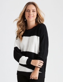 COLOUR BLCK KNIT