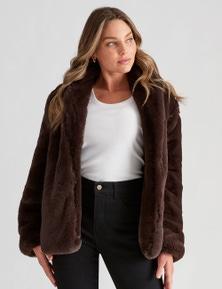 Crossroads Faux Fur Shawl Collar Jacket