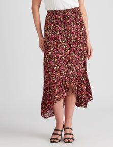 Rockmans Button Thru Skirt