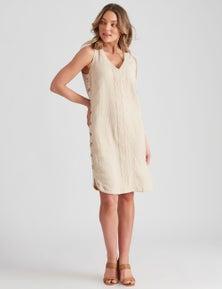Rockmans Sleeveless Curved Hem Dress