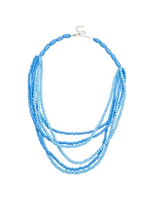 Amber Rose Multi Strand Wooden Rope Necklace