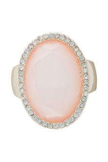 Amber Rose Stoneset Finger Ring