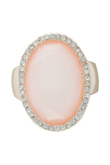 Amber Rose Stoneset Finger Ring