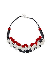 Amber Rose Buton Layered Necklace