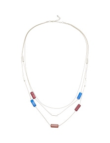 RESIN BEAD AND SNAKE CHAIN NECKLACE