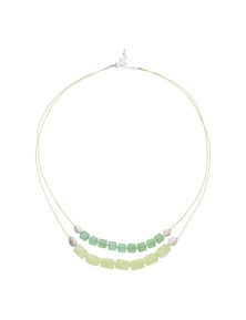 Amber Rose Semi Precious Double Strand Necklace
