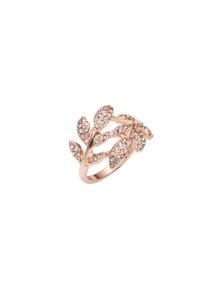 Amber Rose Leaf Wrap Ring