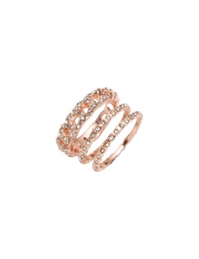 Amber Rose Pave Link Rings