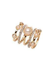 Amber Rose Pearl Stacker Rings