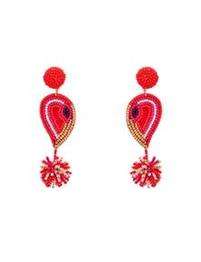 Amber Rose Flamingo Head Earrings
