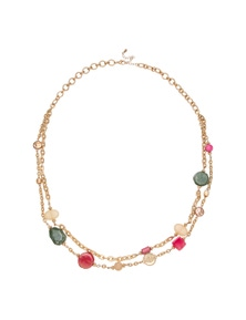 Amber Rose Valentina Jewelled Rope Necklace