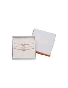 Amber Rose Bracelet Set In Giftbox