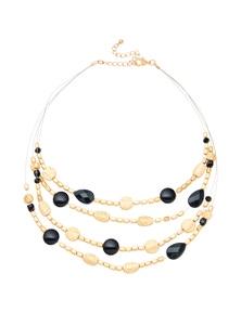 Amber Rose Multi Strand Illusion Necklace