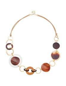 Amber Rose Sienna Shell Rope Necklace