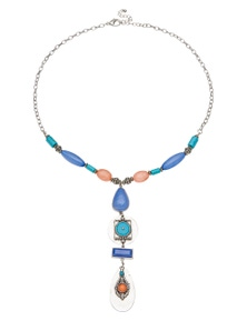 Amber Rose Tribal Y Necklace