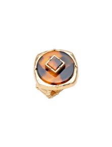 Amber Rose Tortoiseshell Finger Ring