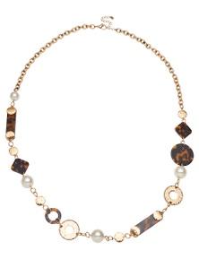 Amber Rose Tortoiseshell Rope Necklace