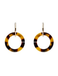 Amber Rose Door Knocker Resin Earrings